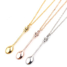 """MINI GOLD SPOON Dots Alice 20/"""" Chain Necklace Tea Spoon SNUFF  FESTIVALS"""