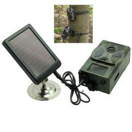 2019 cámara oculta al aire libre Cargador de panel solar Cargadores de cámara Hunting Trail para solo Suntek HC800A HC801A HC800M HC801M HC800G HC801G HC800LTE HC801LTE