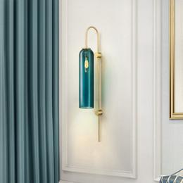 Applique en verre minimaliste moderne bleu / blanc / intérieur salon chambre lampes de mur de chevet porche bougeoir lampe luminaria ? partir de fabricateur