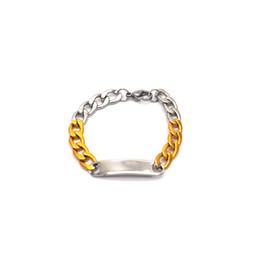 7fa95dd53147 Pulsera de acero inoxidable para niños con plata dorada rellena con cadena  de Figaro Pulsera suave Pulsera de identificación para niñas Br05136