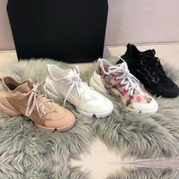 Cordones de zapatos gruesos online-Diseñador de primavera verano, zapatos casuales, flores de moda, deportes, zapatos de mujer, zapatos de impresión, con encaje, fondo grueso, zapato de bowling de lujo, de gran tamaño, 42