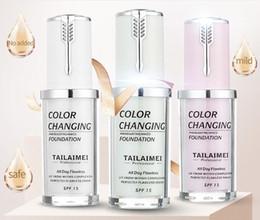 2019 base cosmética Nova Cor TLM Mudando Fundação Fundação 40 ML 3 Cores Maquiagem Cosméticos Primer Tez Creme Corretivo Maquiagem Cobertura 6 pcs base cosmética barato
