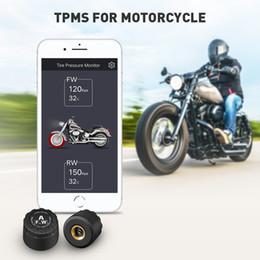 2019 système d'alarme android app Bluetooth 4.0 Système de surveillance de la pression des pneus de moteur TPMS APP pour IOS Android 2 Capteur externe Alarme vocale en temps réel système d'alarme android app pas cher