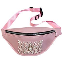 rosa leder gekreuzte mini tasche Rabatt Perlenschmuck Pink Cross Brusttaschen Frauen Solid Color Zipper Messenger Bag PU-Leder-Sport im Freien Hüfttasche Pakiet talii
