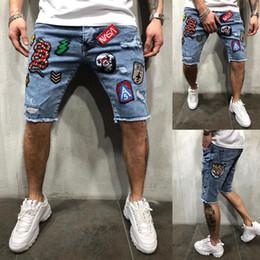одежда для коротких джинсов Скидка Мужские рваные короткие джинсы брендовая одежда Бермуды хлопчатобумажные шорты дышащий джинсовые шорты мужской скейтборд тонкие джинсы droshipping