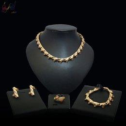 indische armband-designs Rabatt Yulaili einzigartige afrikanische zweig design frauen choker halskette ohrringe armband ring kupferlegierung schmuck sets indian party zubehör bijoux