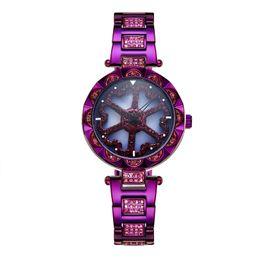 Braccialetti di diamanti delle signore online-Il modo caldo di vendita 2019 guarda il quarzo della vigilanza del vestito dalla signora di disegno dell'acciaio inossidabile degli orologi del braccialetto del diamante di lusso delle donne Trasporto libero