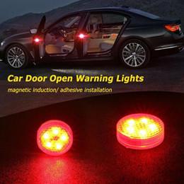 Abertura da porta do flash on-line-2019 Hot Segurança anti-colisão de automotivo LEVOU lâmpada de advertência da porta taillight lâmpada da porta aberta lâmpada de indução explosiva flash Frete Grátis