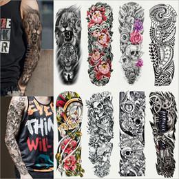 padrões de tatuagem de pé Desconto NOVOS Homens e Mulheres 40 estilos Full Arm tatuagem Etiqueta À Prova D 'Água temporária full-braço Etiqueta Do Tatuagem 17 * 48 CM