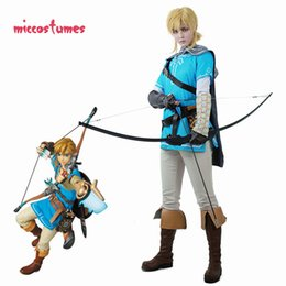 Abiti cosplay maschili online-Collegamento Cosplay Maschio Outfit Mantello The Legend of Zelda: Respiro del WildMX190921