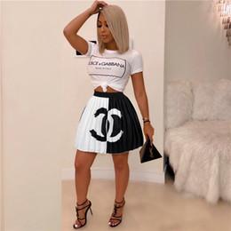 Falda plisada de diseñador de mujer Minifaldas impresas de marca Vestido de cintura alta por encima de la rodilla Falda corta Vestidos de fiesta Club Faldas de moda Ropa desde fabricantes
