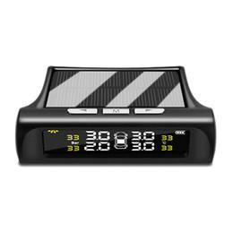 Автомобиль Tpms Мониторинг Давления в Шинах Тестер Давления в Шинах С Солнечной Системой Зарядки Цифровой ЖК-Дисплей Auto Security Voic от Поставщики пластиковые колеса резиновые