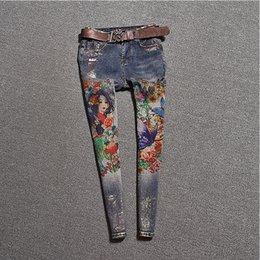2019 jeans rosa caldi Jeans verniciati Femme Plus Size Jeans Jeans skinny jeans lavati blu Pantaloni stretch donna aderenti slim fit J005a