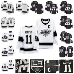 2020 la rois de hockey LA Kings de Los Angeles 90 8 Drew Doughty 11 Anze Kopitar 32 Jonathan Quick 99 Wayne Gretzky Jeff Carter Domicile Extérieur Mens Hockey Maillots la rois de hockey pas cher