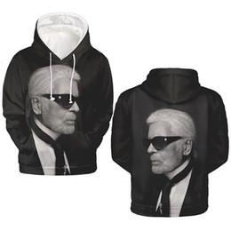 Модная одежда онлайн-Карл Fashion Основатели 3D Цифровой Печати Мужские Толстовки Lagerfeld O Шеи С Длинным Рукавом Толстовки Горячей Мужская Одежда