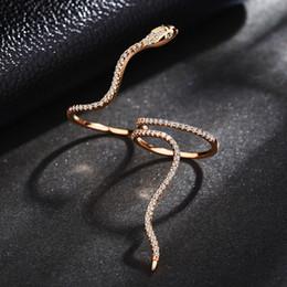 kristall infinity ringe Rabatt Neue design heißer verkauf mode kristall schlange ringe gold farbe unendlichkeit dünne ring aussage schmuck großhandel für frauen schmuck zk40