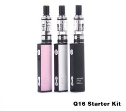 Argentina Original Justfog Q16 Starter Kits e cigarrillos 2.0ml Tank 510 Thread Bottom Coil Clearomizer y J-Easy 9 vv Batería 100% Vape cheap e cigarette bottom coil Suministro