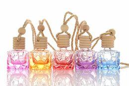 Canada Eau Cube Désodorisant Parfum D'huile Essentielle Bouteille De Parfum De Voiture Vue Arrière Rétroviseur Suspendu Ornement W9830 Offre