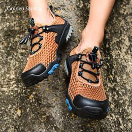 Golden Sapling Atmungsaktive Wanderschuhe Soft Rubber Outdoor Bergsteigen Herren Sneakers Plus Size Trekking Camping Schuhe Herren