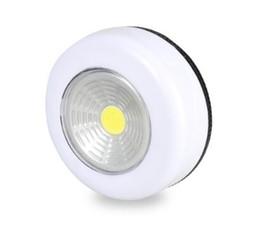 baterias fáceis Desconto Portátil 3 W COB Sem Fio LEVOU Sob Luzes Do Armário Alimentado Por Bateria de Controle de Toque Fácil de Instalar Sala de estar Cozinha Lâmpada de Parede
