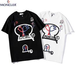 Chemise blanche en Ligne-T-shirts à la mode pour les hommes Hip Hop Cotton Mens off Vêtements T-shirt col rond milliardaire homme Tops été manches courtes noir blanc