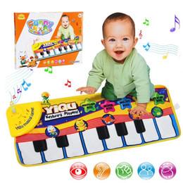 2019 tocar piano niños Gran bebé Musical Alfombra Teclado Tapete de juego Música Play Mat Piano Aprendizaje temprano Juguetes educativos para niños Niños Puzzle Regalos Q190604 tocar piano niños baratos