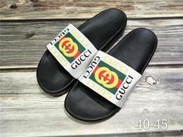 Eur 43 mulheres sapatos on-line-Boa qualidade Designer de Tigre Deslizamento Praia Designer Chinelos Perseguição Sandálias De Cetim Mulheres Homens Marca de Luxo Sapatos Casuais Moda Tamanho EUR 40-45