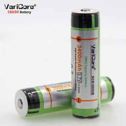 3.7v batería de iones de litio aa Rebajas VariCore original protegido para batería 18650 3400mAh NCR18650B con nuevo PCB original 3.7V adecuado para linternas