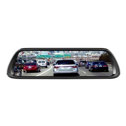зеркало заднего вида Скидка 10-дюймовый Android 8.1 4G зеркало заднего вида автомобильный видеорегистратор камера Gps навигатор Bluetooth музыка Wifi Hd 1080P потокового видео рекордер