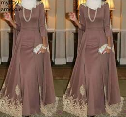 faire une robe à col haut Promotion 2019 musulman col haut gris violet robe de soirée une ligne or usure reconstitution historique robe de soirée sur mesure plus la taille robe robe de soirée