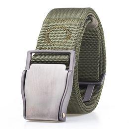 5632ba294 10 Colors Army Belt Tactical Designer Men Canvas Belts For Pants Long Nylon  Strap Metal Buckle Male Elastic Waist Belt