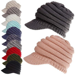 Crochet Baseball Beanie Online Shopping - Winter Women Baseball Cap Wool  Knitted Ponytail Beanies Crochet Ladies 1732a9439e3d