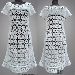 0624be827 Crochet dress Estelle. White handmade flower women day or special occasion  organic cotton crochet dress. Made to order