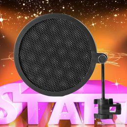 2019 microphone à vent Filtre noir de bruit d'écran de vent de microphone de double couche de studio PS-2 pour l'enregistrement microphone à vent pas cher