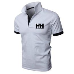 Мужчины стройное поло онлайн-New Fashion HH Helly Hansen Printed Men H Polo Shirt Lapel Collar Slim Fit Tops Casual Classic brand Male Polos Shirts S-5XL