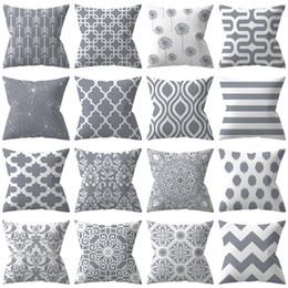 2020 silberne sofa-kissenbezüge Graues Geometriepolyester-Kissen stellte das meistverkaufte silberne Sofakissenbezugkissen ein, das Fabrikgroßverkauf eingestellt wurde rabatt silberne sofa-kissenbezüge