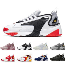 Männer sport schuhe zoom online-2019 Triple Black M2k Tekno Zoom 2K Men women Running Shoes Creamy White Race Red Royal Blue Designer Sports Ssneakers Mens Trainer 36-45