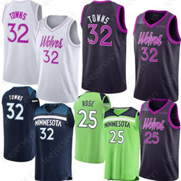Rose 25 Derrick Minnesota 32 Karl-Anthony Jersey Towns Jersey Timberwolves  23 Butler Jimmy 22 Wiggins Andrew 100% Stitched 2019 New wiggins jersey  promotion 8b28125f7