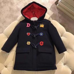 chaquetas de lana para niños Rebajas Chaqueta de invierno Abrigo para niñas Ropa para niños Abrigo gris clásico Trajes Ropa Abrigo de lana Botón de flores para niños Outwear