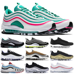 men trainers canvas Promo Codes - Iridescent Layser White Neon Seoul 97OG Running Shoes For Men Guava Ice Barely Rose Michigan Parra Triple Black White Zapatos Trainers