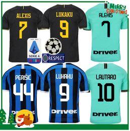 Camisa da inter de milão on-line-19 20 Inter camisa Lukaku Candreva ALEXIS LAUTARO Milan casa longe Kondogbia Jovetic 2019 camisa kit 2020 Icardi esportes Homem adulto e crianças