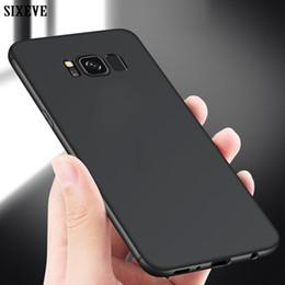 Argentina SIXEVE Ultra Thin Funda para teléfono celular para Samsung Galaxy S6 S7 S8 S9 Plus S8 Plus Plus S8Plus Duos a prueba de golpes de silicona TPU contraportada Suministro