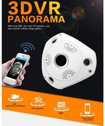 outdoor cctv ip wifi câmeras Desconto Câmera IP WiFi Fisheye Câmera de Rede Wi-Fi 360 Câmeras Panorâmicas Wi-Fi 960 P Vigilância CCTV Cam suporte VR CAIXA 2CU0513