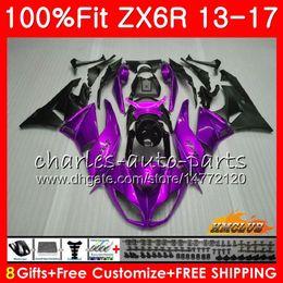 Инъекция для KAWASAKI NINJA ZX-636 ZX 6R ZX-6R ZX 636 600CC 32NO53 новый фиолетовый продажа ZX6R 13 14 15 16 17 2013 2014 2015 2016 2017 OEM обтекатель от