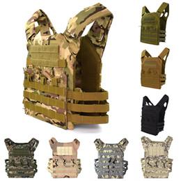 chaleco de combate del ejército Rebajas Chaleco JPC táctico Caza Deporte Molle Combat Plate Carrier Chaleco Camuflaje Hombres Ejército Armadura corporal