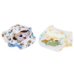 chico ultraman Rebajas 2 piezas de algodón resistente al agua lavable Formación del pañal pantalones Capa de aprendizaje bragas para el bebé, modelo del perro del patrón de elefante