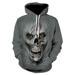 2019 nova chama azul esqueleto moletom com capuz 3d-impresso camisola da motocicleta dos homens e das mulheres hoodies soltas esportes hip-hop queda cheap flame skeleton de Fornecedores de esqueleto de chama
