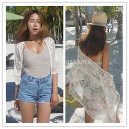 2019 copertine classiche di caramelle Nuovi arrivi Sexy Beach Cover up Costumi da bagno in pizzo Ladies Plage Pareo Beach Cape Abbigliamento da bagno donna Coverup Saida de Praia