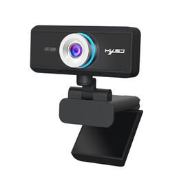 2019 веб-камера видеозаписи HXSJ S90 HD webcam 720P web cam 360 degree rotating PC camera video call and recording with noise reduction microphone for PC дешево веб-камера видеозаписи