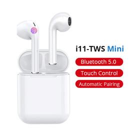 Deutschland i11 TWS Bluetooth 5.0 drahtlose Kopfhörer Earpieces Miniohrhörer i7s mit Mic für iPhone X 7 8 Samsung S6 S8 Xiaomi Huawei LG geben Verschiffen frei Versorgung